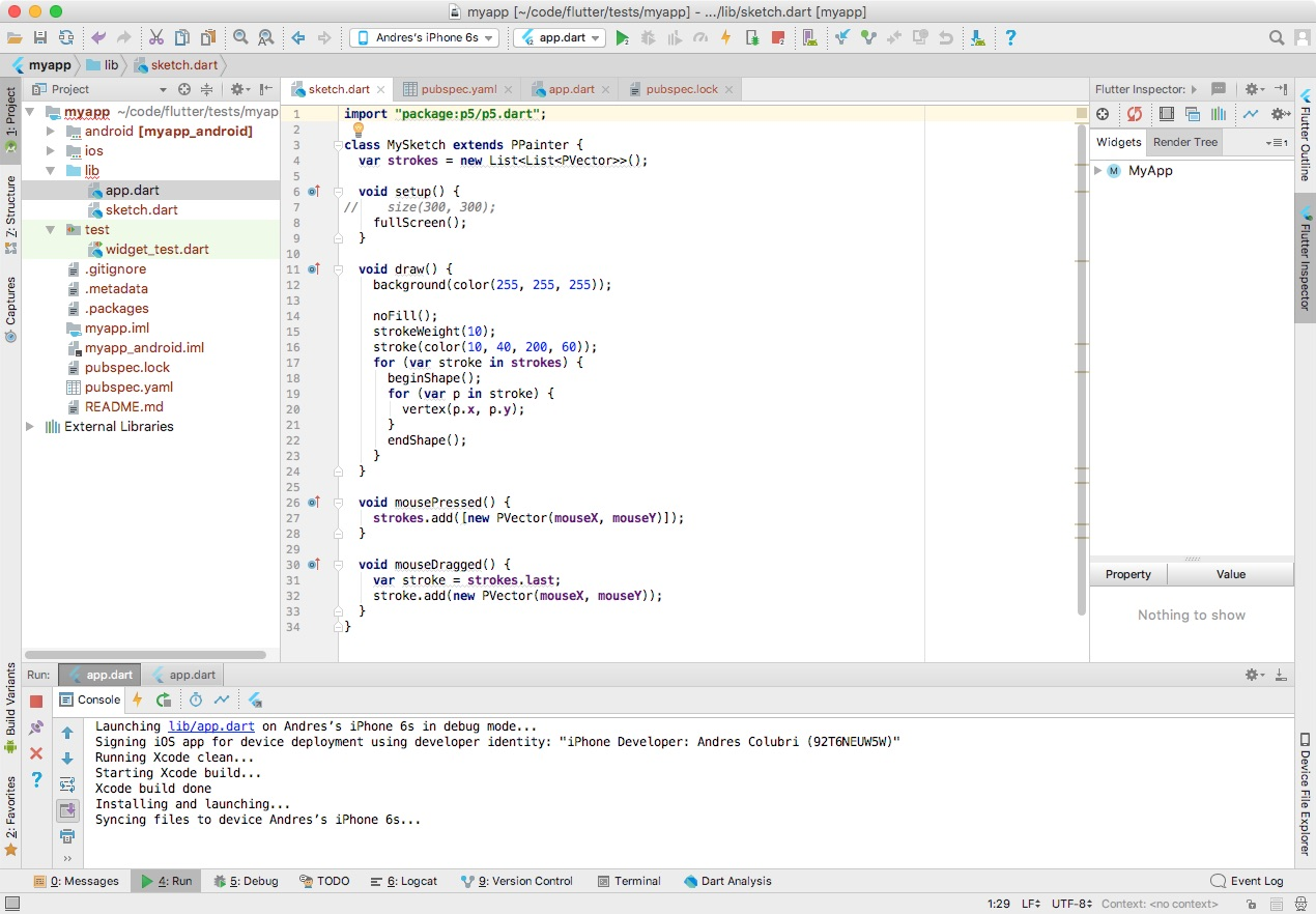 Using Android Studio to debug on an iPhone